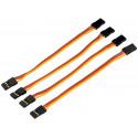 Câble patch de servo contact PK UNI prise male 10cm 4 unités (600208)