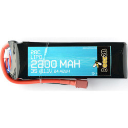Batterie Lipo 3S 11.1v 2200mAh 20C (24 x 34 x 105mm - 173g)