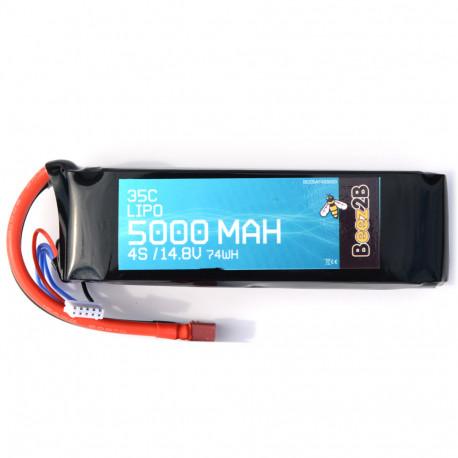 Batterie Lipo 4S 14.8v 5000mAh 35C (33 x 47 x 155mm - 520g)
