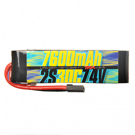 Batterie Lipo 2s 7.4v 7600mAh 30C pour Traxxas 1/10