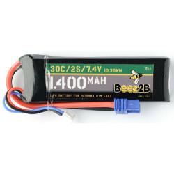 Batterie Lipo 2s 7.4v 1400mAh pour Vaterra 1/14 Cars