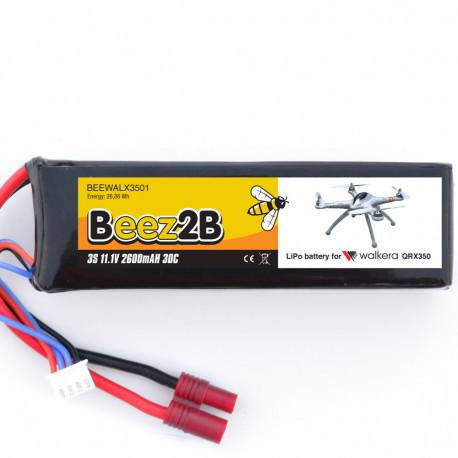 Batterie Lipo 3s 11,1V 2600mAh 30C pour Walkera QR X350