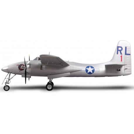 Plane 1700mm F7F Tigercat Silver PNP kit