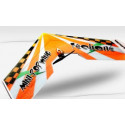 Mini Popwing Red 600mm ARF wing plane kit (w/esc, motor & 2 servos)