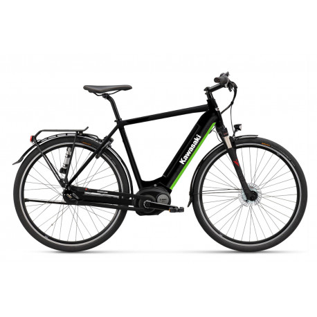 KAWASAKI KBC 2.0 M Citybike black Bosch drive