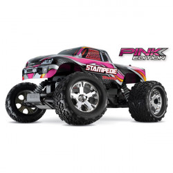 STAMPEDE PINK - 4x2 - 1/10 BRUSHED TQ 2.4GHZ - iD (TRX36054-1P)