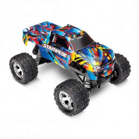 STAMPEDE Rock n' Roll - 4x2 - 1/10 BRUSHED TQ 2.4GHZ - SANS AQ/CH (TRX36054-4)