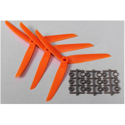 Three Blade 7x3.5 Propellers Orange (3pcs)