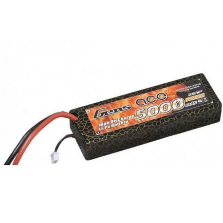 Gens ace 5000mAh 7.4V 50C 2S1P HardCase Lipo Battery 24 (B-50C-5000-2S1P-HardCase-24)